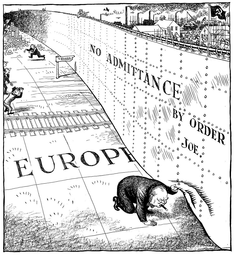 Iron curtain cartoon - Iron Curtain Cartoon